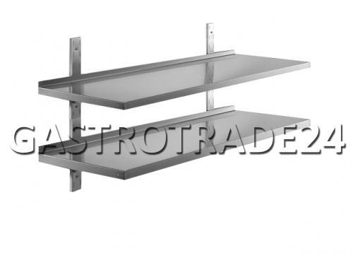 wandbord wandregal konsole edelstahl 1800x300 2 b den ebay. Black Bedroom Furniture Sets. Home Design Ideas