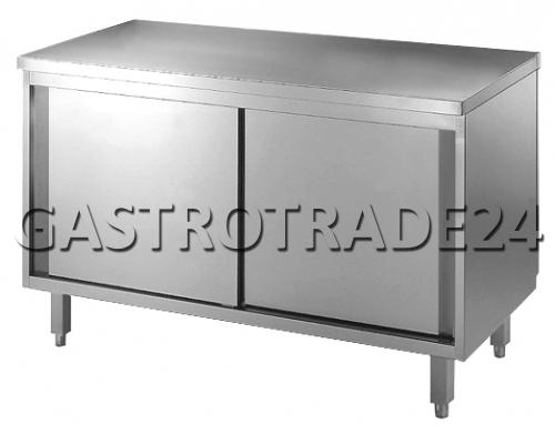 Table armoire inox 1000x700x850mm portes coulissantes ebay for Table armoire inox