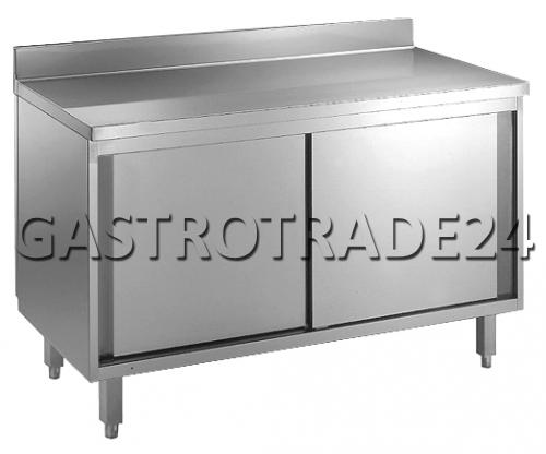 Table armoire inox 1600x700x850mm dosseret portes ebay for Table armoire inox