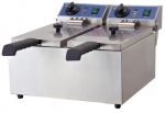 Friteuse Double INOX 2x6 litres 2x2kW TOP