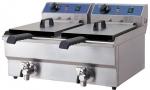 Friteuse Electrique Double Top 3,25 + 3,25 kW 10 +10 L